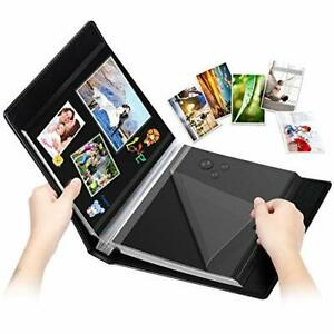 Photo Album 60 Black Pages Self Stick DIY Travel Memory Book Leather Cover $38.19