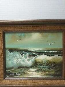Roal English Seascape Oil Painting 8x10quot; Overall 11.25 x 13.25quot; Framed Original $74.99