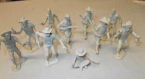 Marx Original Western Playsets Trappers and Miners 10 In Gray Plastic L@@K $49.95