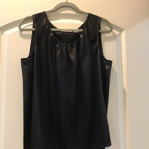Chico Black tank gathered front Size 2 $7.50