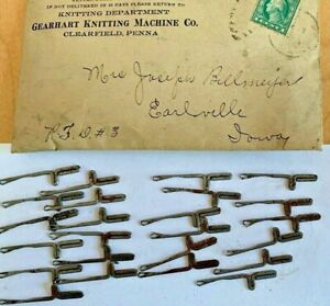 Set of Knitting Small Needles for Gearhart's Family Knitting Machine c 1905 $32.00