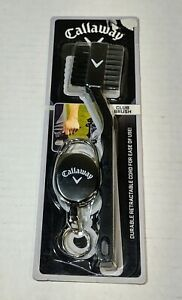 Callaway Club Brush w Retractable Spring Loaded Cord For Easy Access Fast Ship $12.97