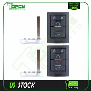 2x New Replacement Uncut For Cadillac Remote Smart Prox Key Insert Push To Start $42.69