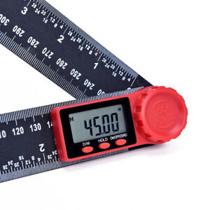 Digital Electronic Angle Finder 8quot; 200mm Protractor Ruler Measure Ruler Tool US $21.48
