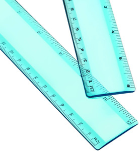 Plastic Ruler Straight Ruler Plastic Measuring Tool 12 Inches and 6 Inches 2 Pi $9.73