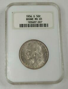 1936 S US Boone 50 Cents NGC MS65
