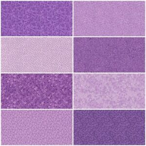 Lot of 8 Multiple PURPLE Fat Quarters Quilting Sewing Cotton Fabric FQ Bundle $21.75