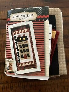 """Bless This House Pattern Wool Kit Wallhanging 8.5""""x17.5"""" $19.95"""