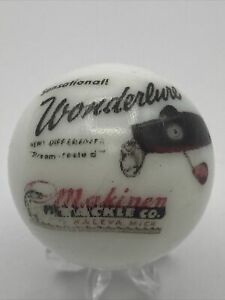 Makinen Tackle Co Fishing Lures Wonderlure Logo White Shooter Marble Collectible