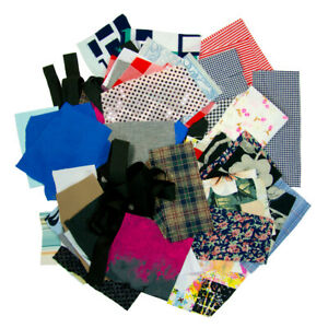 6oz Bulk Sewing Fabric Scaps Small Cut Sample Sized Mix Craft Material Leftovers $15.50