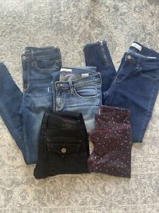 Womens Clothing Lot Bottoms Size XS 25 KanCan True Religion amp; more $29.00