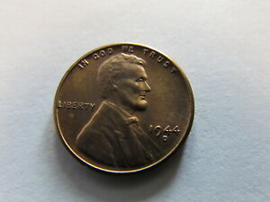 1944 D Lincoln Wheat Cent Copper Penny Denver Mint 1c MS RED UNC Coin