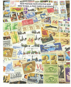 DISCOUNT 40c POSTCARD RATE STAMPS BELOW FACE VALUE 50 postcards for only $17