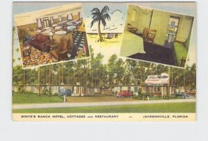 PPC Postcard FL Florida Jacksonville White#x27;S Ranch Hotel Cottages And Restaurant