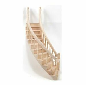 Dollhouse Miniature Right Curved Staircase for Dollhouse $69.99