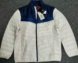 Timberland Thermore EVOdown Men XXL White Navy Light Packable Jacket NWT $178 $129.95
