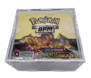 Pokemon Booster Box Acrylic Case Framing Storage Display Case Only Snug Fit $25.00
