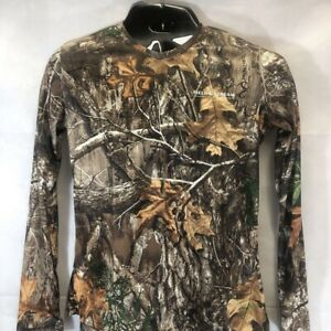 Field amp; Stream Realtree Womens Hunting T Shirt Multicolor Brown Camouflage M New