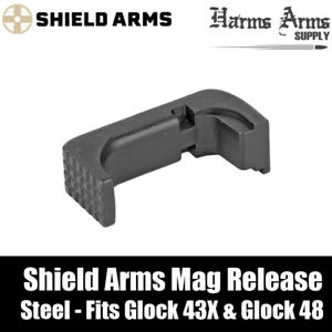 SHIELD ARMS Magazine Release Catch for Glock 43X amp; 48 Steel use with S15 Mag
