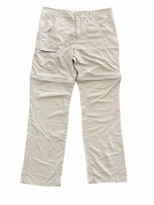Columbia Omni Shade Sun Protection Zip Off Outdoor Cargo Pants Size Large $17.10