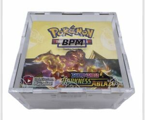 Pokemon Booster Box Acrylic Case Framing Storage Display Case Only Loose Fit $25.00
