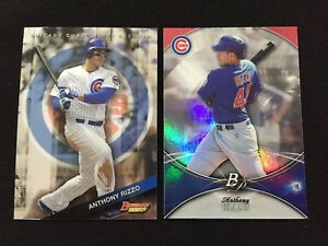 ANTHONY RIZZO BOWMANS BEST 2015 amp; PLATINUM 2016 CHICAGO CUBS BASEBALL CARDS