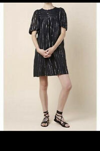 Isabel Marant cotton Dress with silver lurex Size 42