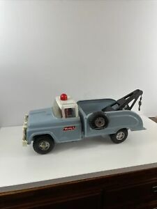 Vintage Buddy L metal Tow Truck 15.5quot; steel wrecker Springer front end flat tire $209.00