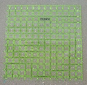 Omnigrid Omnigrip Neon Green 6 1 2 inch x 6 1 2 inch Square Ruler for Quilting $17.91