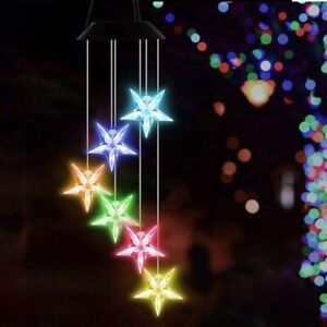 Solar Star Wind Chimes Lights LED Color Changing Garden Yard Decor Waterproof $12.49