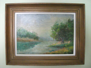 Beautiful seascape painting by LISTED Maine artist Charles H Richert 1880 1934 $425.00