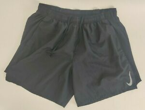 Nike Mens Black Challenger Running Dri Fit Shorts XL with Brief Lining 2 in 1 $16.01