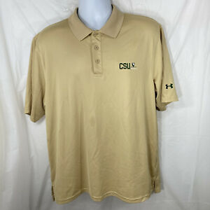Under Armour Mens Large Colorado State University Rams Gold Short Sleeve Polo $19.99