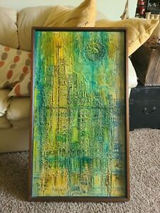 Signed Van Hoople Textured Oil Painting Approx 37 x 21 1 4 $830.00