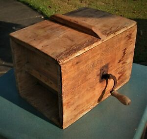 Antique Wood Iron Butter Churn Primitive Wood Rustic Vintage Dairy $99.90