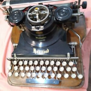Hammond Portable Typewrier Antique with Case. Very good condition. $810.00