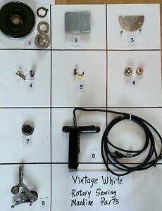 VINTAGE WHITE ROTARY SEWING MACHINE PARTS Free Shipping $18.99