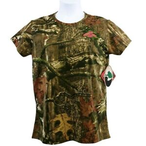 Mossy Oak Womens Hunting T Shirt Green Camouflage Short Sleeve Crew Tee S New