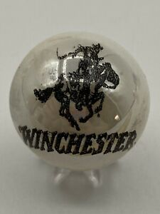 Winchester Firearms Rifles Black Logo White Pearl Shooter Marble Collectible $9.99
