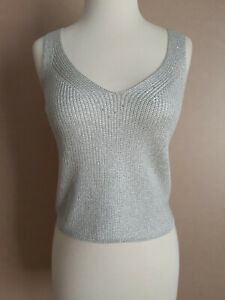 Griffith Gray for St Johm Silver Tank Top Size Small for Women