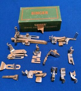 Vintage Singer Sewing Machine Low Shank Attachments Fits Featherweight And More $60.00