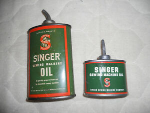 Singer sewing machine oil can Vintage lead top 2 sizes $35.00