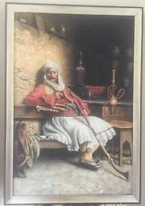 Large Oil Painting of an Albanian Fighter $1000.00