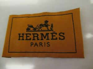 HERMES 1 Clothing Designer Tag LABEL Replacement Sewing Accessories lot 1 $17.00