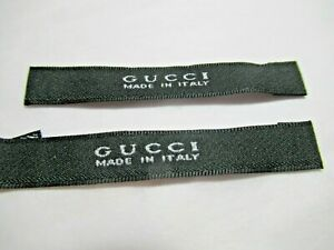 GUCCI 2 Clothing Designer Tag LABEL Replacement Sewing Accessories lot two $18.95