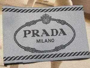 PRADA 1 Clothing Designer Tag LABEL Replacement Sewing Accessories lot 1 $17.00