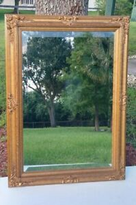 Large Ornate Gold Hollywood Regency Wall Mirror 31.5quot;x43.5quot; $309.39