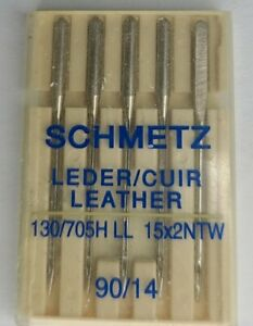 5 PACK SCHMETZ LEATHER SEWING MACHINE NEEDLES SIZE 14 90 $2.75