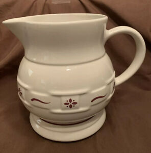 LONGABERGER WOVEN TRADITIONS RED. LARGE MILK JUICE PITCHER 64 OZ. $34.99