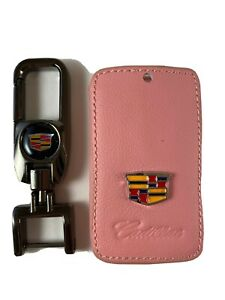 Pink Leather Cadillac Key Fob Cover $14.99